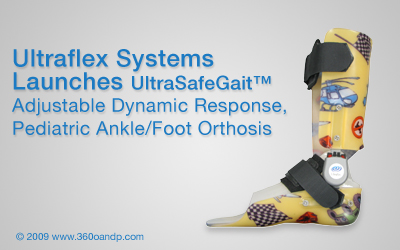 Ultraflex Systems Launches UltraSafe Gait™ Adjustable Dynamic Response Pediatric Ankle/Foot Orthosis