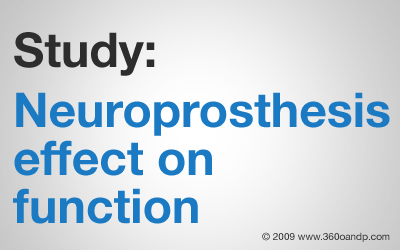 Study: Neuroprosthesis effect on function
